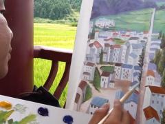 江西三都村200多位农民油画师